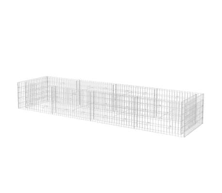 vidaXL Gabiono vazonas, plienas, 360x90x50 cm