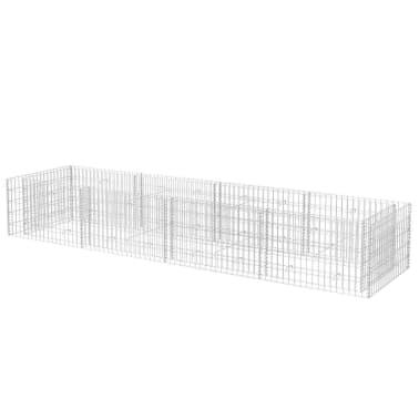 vidaXL Gabiono vazonas, plienas, 360x90x50 cm[2/6]
