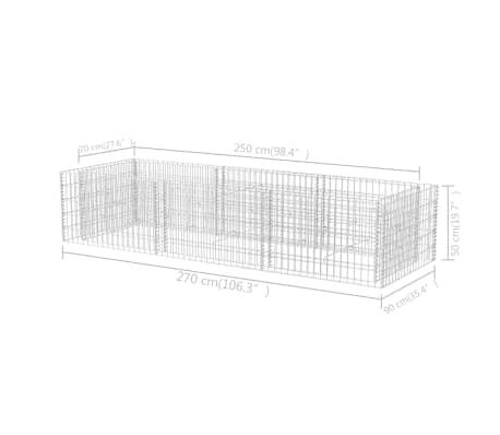 vidaXL Gabion stålpotte 270x90x50 cm[6/6]