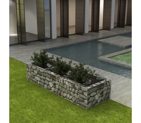 vidaxl gabionen pflanzkorb stahl 270 x 90 x 50 cm g nstig. Black Bedroom Furniture Sets. Home Design Ideas