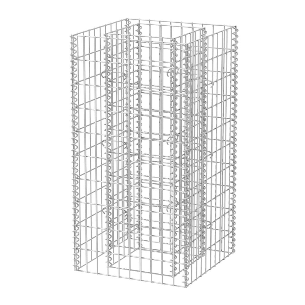 vidaXL Συρματοκιβώτιο Γλάστρα 50 x 50 x 100 εκ. από Χάλυβα