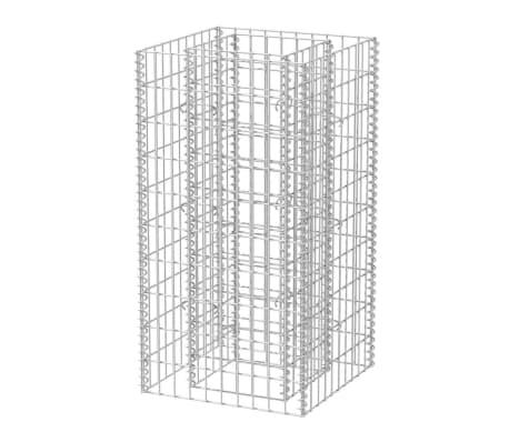 vidaXL Gabiono vazonas, plienas, 50x50x100cm, aukštas