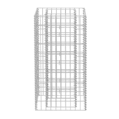 vidaXL Gabiono vazonas, plienas, 50x50x100 cm[4/6]
