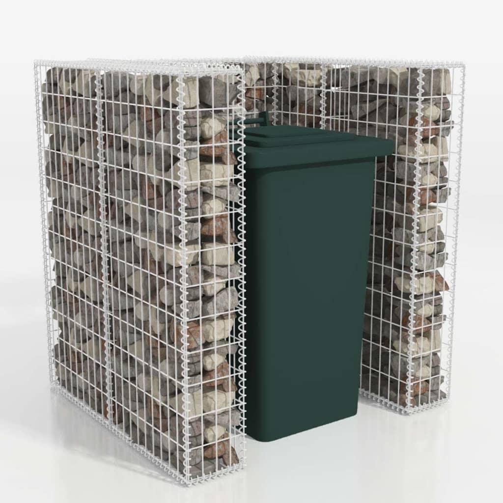 vidaXL Schanskorf enkele vuilnisbak ombouw 110x100x120 cm staal