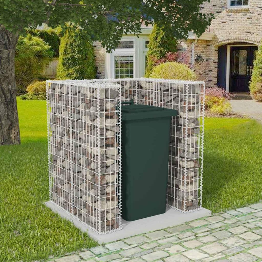 Gabionová zástěna pro 1 popelnici ocelová 110 x 100 x 120 cm