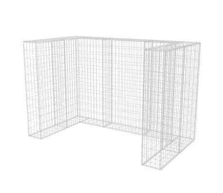 vidaXL Gaviones para ocultar contenedor doble 180x100x120 cm[2/8]