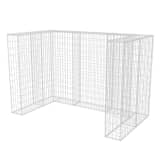 "vidaXL Gabion Double Wheelie Bin Surround Steel 70.9""x39.4""x47.2"""