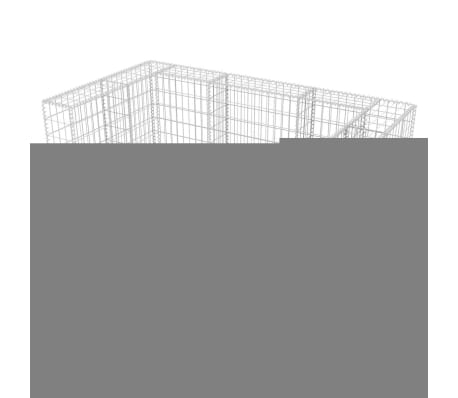 vidaXL Gabionsøppelskjulet stål 180x100x120 cm[5/8]