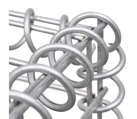 vidaXL Gabionsøppelskjulet stål 180x100x120 cm[7/8]