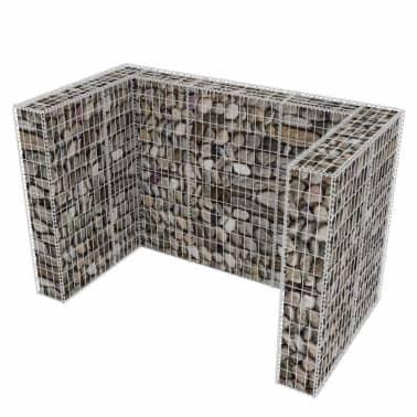 vidaXL Gaviones para ocultar contenedor doble 180x100x120 cm[3/8]