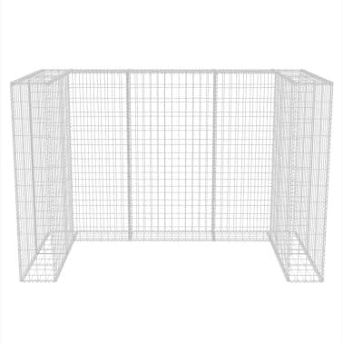 vidaXL Gaviones para ocultar contenedor doble 180x100x120 cm[6/8]