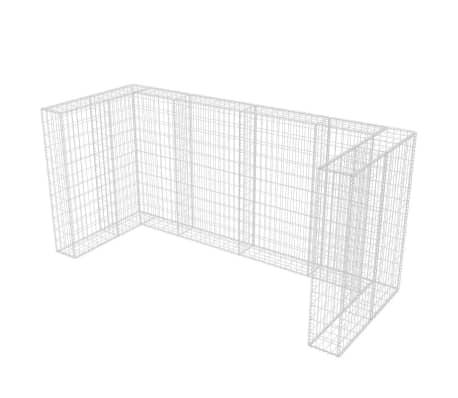 vidaxl gabionen m lltonnenverkleidung f r 3 tonnen stahl 250x100x120cm g nstig kaufen. Black Bedroom Furniture Sets. Home Design Ideas