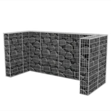 vidaXL Cadre de gabion de poubelle triple Acier 250 x 100 x 120 cm[5/9]
