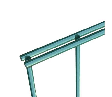 vidaXL Schuttingpaneel met palen 6x1,2 m gepoedercoat ijzer groen[6/7]