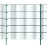 vidaXL Tvoros segmentai su stulpais, žalia, geležis 6x2m