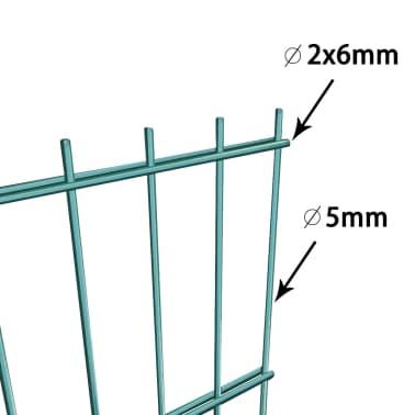 acheter vidaxl panneau de cl ture avec poteaux 6 x 2 m fer vert pas cher. Black Bedroom Furniture Sets. Home Design Ideas
