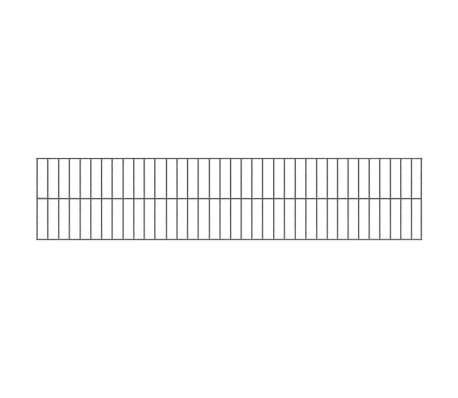 vidaXL Tvoros segmentai su stulpais, 6x0,8 m, antracito spalvos[2/6]
