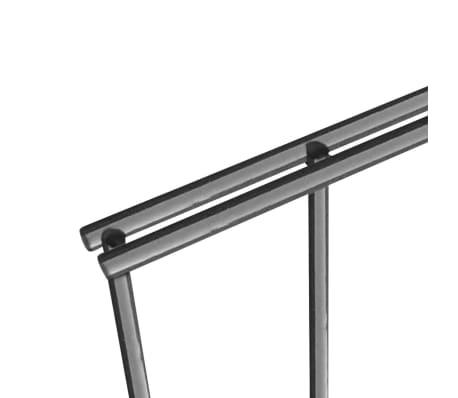vidaXL Tvoros segmentai su stulpais, 6x0,8 m, antracito spalvos[5/6]