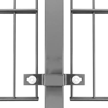 vidaXL Tvoros segmentai su stulpais, 6x0,8 m, antracito spalvos[4/6]