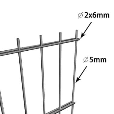 vidaXL Tvoros segmentai su stulpais, 6x0,8 m, antracito spalvos[6/6]