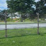 vidaXL Panel ogrodzeniowy ze słupkami, żelazny, 6 x 1,2 m, antracytowy
