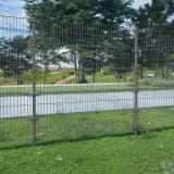 vidaXL Panel ogrodzeniowy ze słupkami, żelazny, 6 x 1,6 m, antracytowy