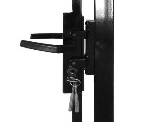 vidaXL Portail de clôture avec dessus arqué et 2 poteaux 100 x 200 cm[3/3]