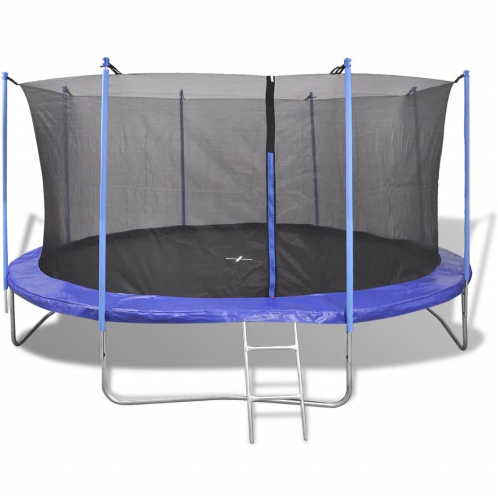 vidaXL Set trambulină cu 5 piese, 4,57 m poza 2021 vidaXL
