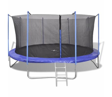 vidaxl ensemble de trampoline pour enfants filles gar on 150 kg 5 pi ces 4 57 m ebay. Black Bedroom Furniture Sets. Home Design Ideas