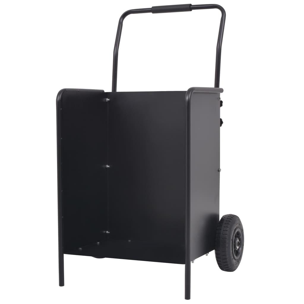 vidaXL Vozík na palivové dřevo s pneumatickými kolečky, 46x35x100 cm