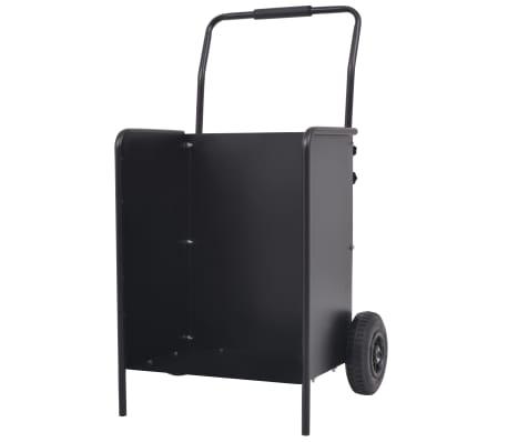 vidaXL Chariot à bois de chauffage avec pneus gonflables 46x35x100 cm[1/5]