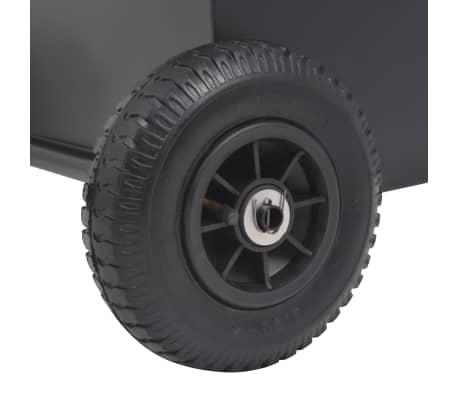 vidaXL Chariot à bois de chauffage avec pneus gonflables 46x35x100 cm[4/5]