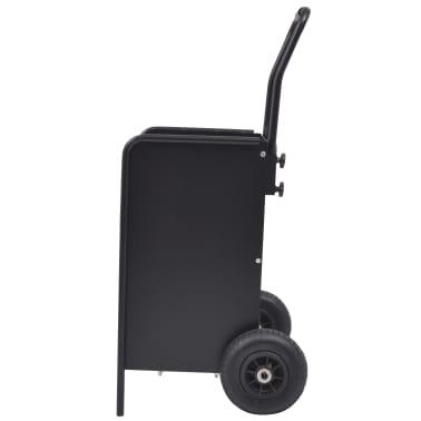 vidaXL Chariot à bois de chauffage avec pneus gonflables 46x35x100 cm[2/5]