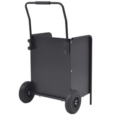 vidaXL Chariot à bois de chauffage avec pneus gonflables 46x35x100 cm[3/5]