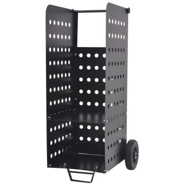 vidaXL tűzifa kocsi műanyag kerekekkel 36 x 42 x 105 cm[1/5]