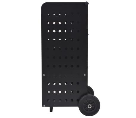 vidaXL tűzifa kocsi műanyag kerekekkel 36 x 42 x 105 cm[3/5]