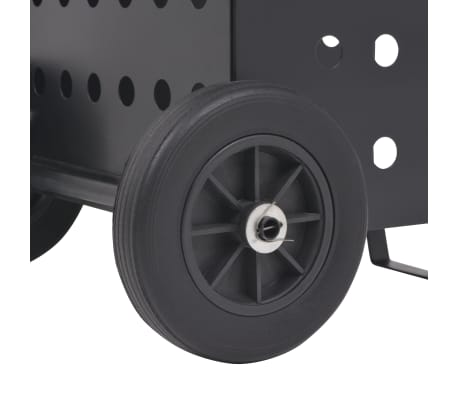 vidaXL tűzifa kocsi műanyag kerekekkel 36 x 42 x 105 cm[5/5]