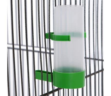 """vidaXL Bird Cage Black 21.3""""x21.3""""x57.5"""" Steel[3/6]"""