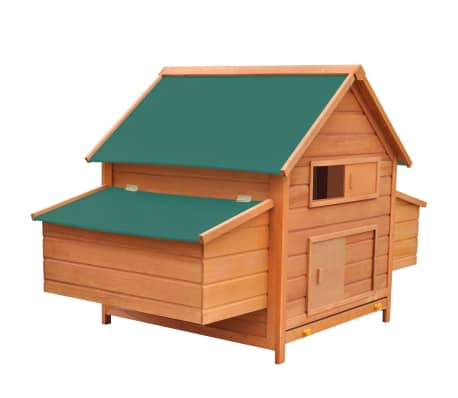 "vidaXL Chicken Coop Wood 61.2""x38.2""x43.3""[1/8]"