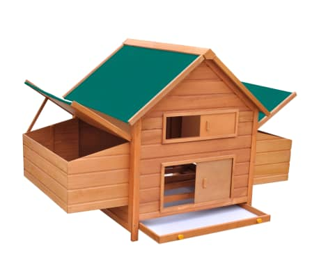 "vidaXL Chicken Coop Wood 61.2""x38.2""x43.3""[2/8]"