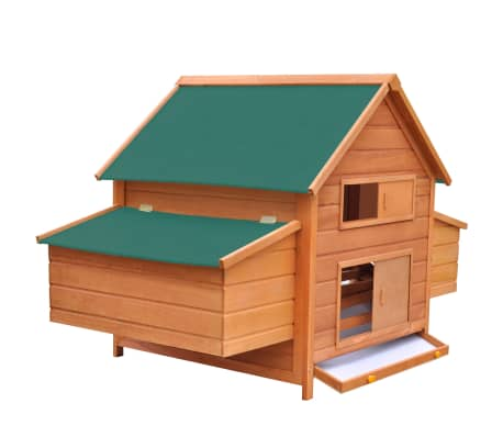 "vidaXL Chicken Coop Wood 61.2""x38.2""x43.3""[3/8]"