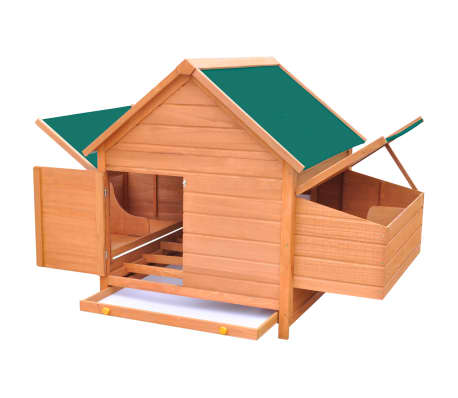 "vidaXL Chicken Coop Wood 61.2""x38.2""x43.3""[5/8]"