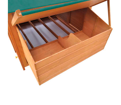 "vidaXL Chicken Coop Wood 61.2""x38.2""x43.3""[6/8]"