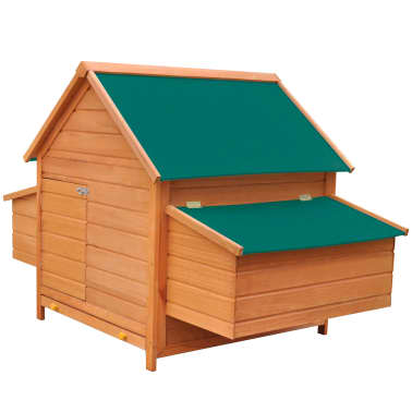 "vidaXL Chicken Coop Wood 61.2""x38.2""x43.3""[4/8]"