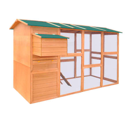 "vidaXL Chicken Coop Wood 116""x64.2""x67""[1/8]"