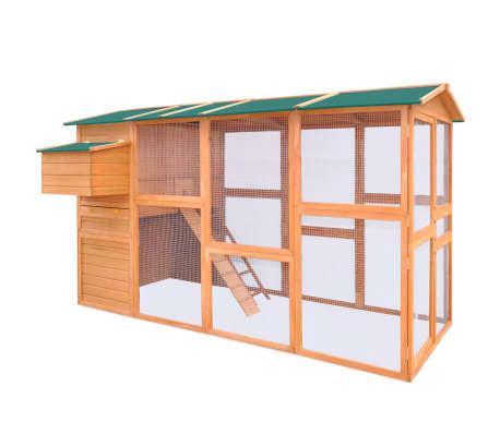 """vidaXL Chicken Coop Wood 116""""x64.2""""x67""""[2/9]"""