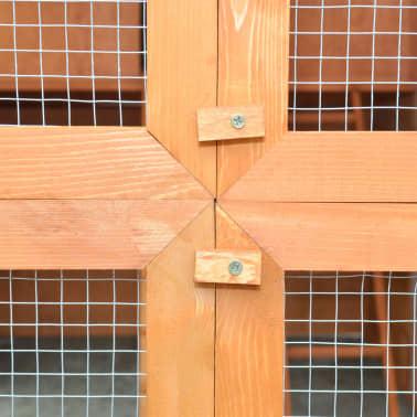 """vidaXL Chicken Coop Wood 116""""x64.2""""x67""""[6/9]"""