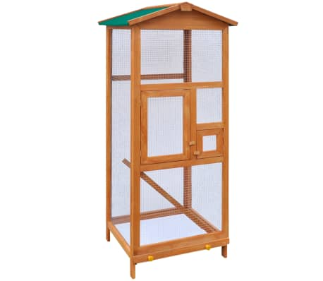 "vidaXL Bird Cage Wood 25.6""x24.8""x65""[1/5]"
