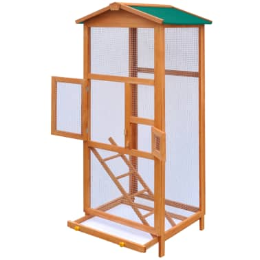 "vidaXL Bird Cage Wood 25.6""x24.8""x65""[3/5]"