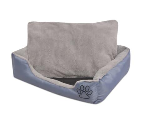 acheter vidaxl lit pour chiens avec coussin rembourr taille s gris pas cher. Black Bedroom Furniture Sets. Home Design Ideas
